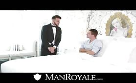 Rich guy with attitude takes his butler in his booty