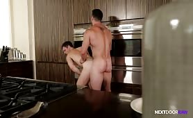 Straight Brothers-in-Law Barebacking In The Kitchen