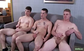Barebacking Threesome With Young Hunk Soldiers