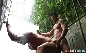 Jimmie Durano Fucking Muscle Hunk Under Shower