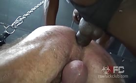 Muscular Bear Daddy Fat Black Cock Breeding