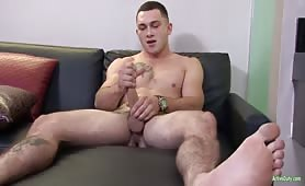 Ripped Military Boy Jerking Of His Big Cock