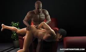 Spanking ass and going 69 balls in face on the couch interracial gay cartoons