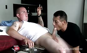 Ex Army Gay Man Gets His Cock Sucked And jerked Off