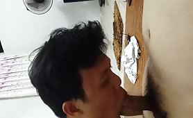 Real Asian amateur sucking dick part 2