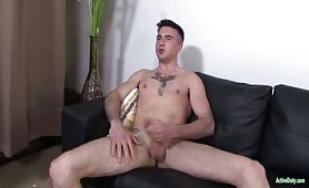 Ripped Army Recruit Jerks Off His Cock And Cums