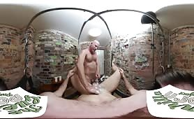Naked barber daddy shaving your cock with happy ending virtual reality