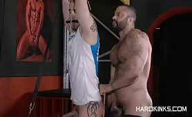 Bound Hunk Tied And Hardcore Banged By Bear