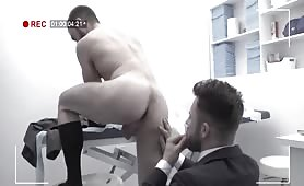 Muscular Bearded Hunks In Suits Banging And Rimming