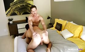 Gorgeous Poolboy Takes Big RAW Cock In His Ass