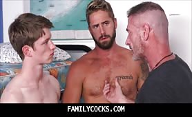 Hottest daddy son bareback anal HD threesome Wesley Woods-FAMILYCOCKS.COM