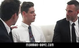 Daddies feasting and cumming on hot boy MORMON-BOYZ.COM