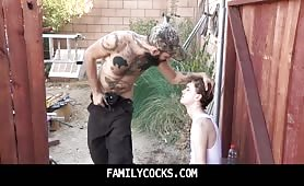 Forced to eat Dad's sweaty hairy ass-FAMILYCOCKS.COM