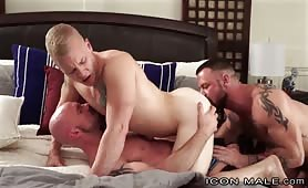 Hooking up with dad and brother threesome gay incest porn