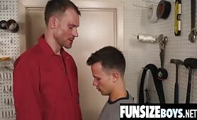 Small teen boy seduced by big dick janitor-FUNSIZEBOYS.NET