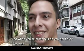 Latin street boy paid to suck and get fucked cums LECHELATINO.COM