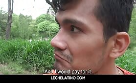 Latin dude approached in park and offered money to suck and get fucked-LECHELATINO.COM