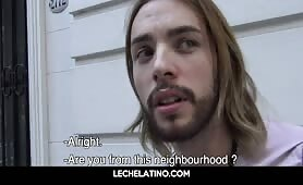 Latin hippy dude recruited on street for gay sex video LECHELATINO.COM