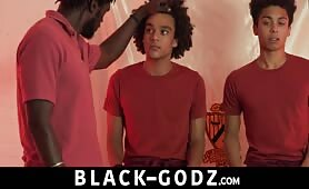 Two teen boys and daddy have big dick black threesome BLACK-GODZ.COM