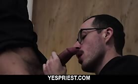 Athletic church boy gets his ass barebacked by a big dick priest doggystyle YESPRIEST.COM
