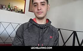 Latin Street boy is paid for gay sucks and fucks dick first time ever LECHELATINO.COM