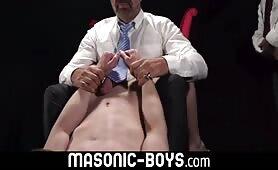 Anal training for twink masonic recruits tight hole with dildo MASONIC-BOYS.COM