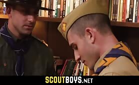 Daddy scoutmaster fucks young teen scout on the office desk SCOUTBOYS.NET