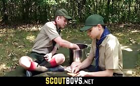 A nature barebacking between two horny scout twinks SCOUTBOYS.NET