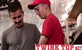Mustache daddy coach gets topped by his twink player fucked raw TWINKTOP.NET