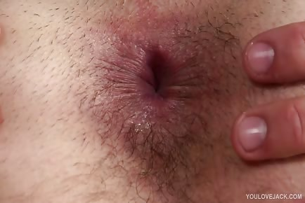 Anus closeup play and solo wank
