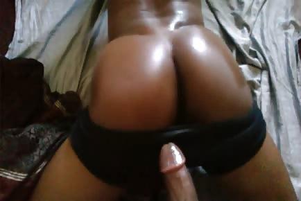 Ebony butt pounded by black dick homeshot POV
