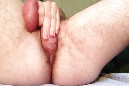 Fucking my own ass and orgasm spasms