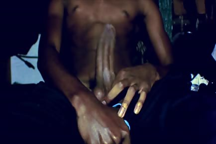 Huge black cock solo masturbation and cum