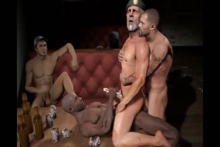 Gay porn cartoon clip muscular dudes
