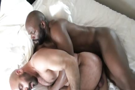Interracial hairy anal