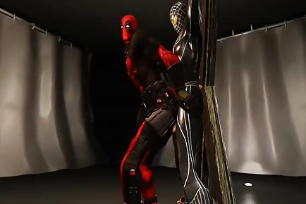 Deadpool cartoon bottoms 3d anal