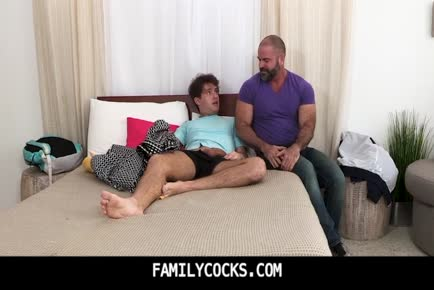 Teenie stepson caught by stunning furry grizzly daddy jerking off-FAMILYCOCKS.COM