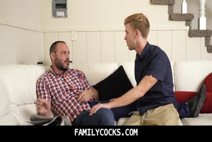Small schlong daddy seduced by hot young boy step son-FAMILYCOCKSCOM.