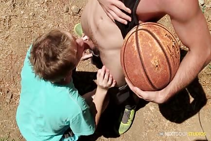 Sex on basketball court with teenie teenie boyfriend