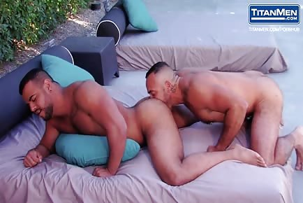Superb muscle studs bubble ass worship and pool anal sex