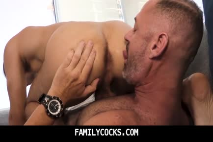 Daddy asshole licking of his boy gay incest porn-FAMILYCOCKS.COM