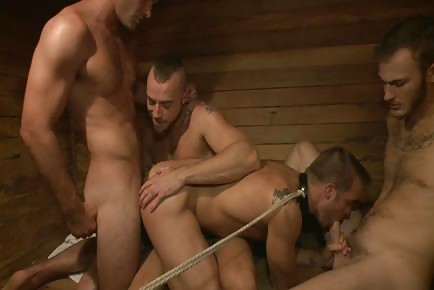 Bathouse rod orgy