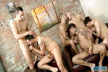 giant gay tattoo orgy