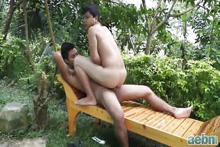 Asians outdoor sex