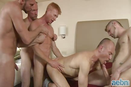 Daddy bareback orgy hd