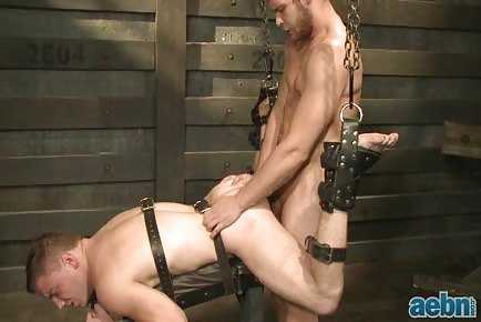 Horny priest behind sex