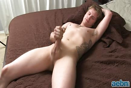 Straight lover jacking off pre-cum