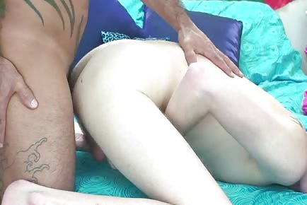 Hairy bareback Daddy On BF
