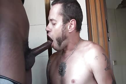 Damon Dogg sucking ebony cock