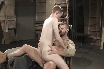 fine furry hunk tops twink in military barrack warehouse